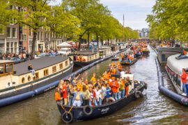 king's day amsterdam canal